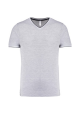 T-SHIRT MAILLE PIQUEE COL V