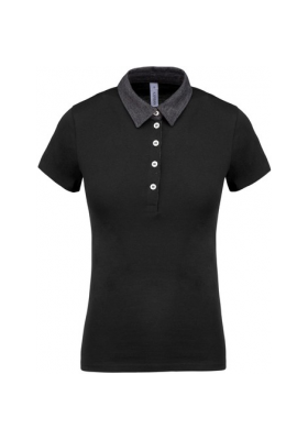 POLO JERSEY FEMME BICOLOR